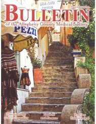 November 2011 Bulletin - Allegheny County Medical Society