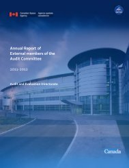 Annual Report of External members of the Audit Committee 2011-2012