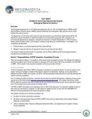 Endangered Species Act Fact Sheet - Broadband Technology ...