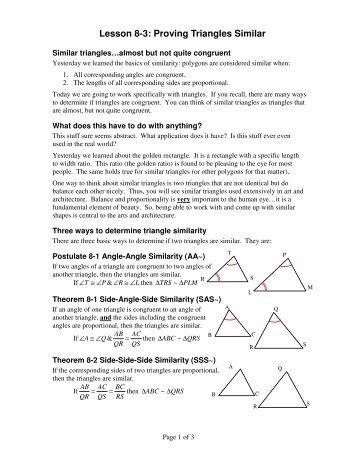 Triangle Congruence With Spaghetti Given The Following Oak
