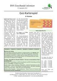 Quiz-Kartenspiel - Bundesverband Naturkost Naturwaren (BNN ...