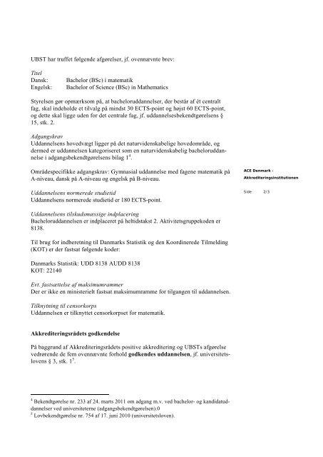 Aarhus Universitet Rektor Lauritz B. Holm-Nielsen Marianne J. Kjær ...
