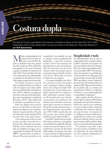 Costura dupla - Linux New Media
