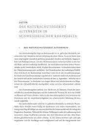 Das Naturschutzgebiet alteNrheiN im schweizerischeN rheiNDelta