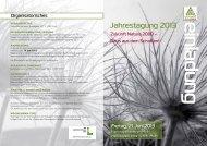 Programm Jahrestagung 2013 - Umweltdachverband