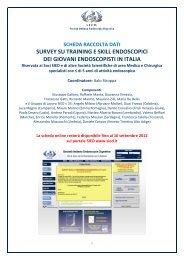 Stampa la Survey su Training e Skill Endoscopici dei Giovani ... - Sied