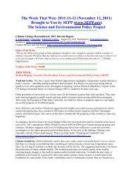 Nov 12, 2011 - Science & Environmental Policy Project