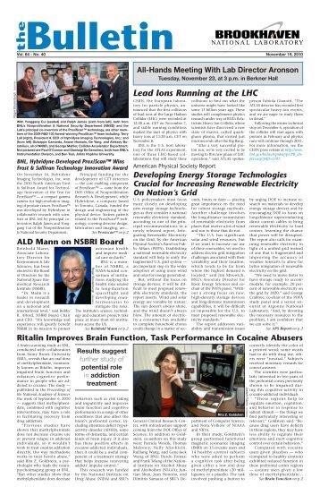 The Bulletin Vol. 64 - No. 40 November 19, 2010 - Brookhaven ...