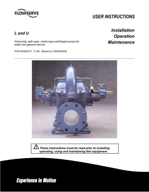 Flowserve L Series Split Case Manual - Consolidated Pumps