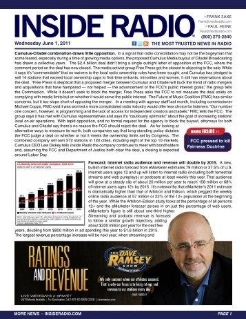 Wednesday June 1, 2011 news INSIDE >>