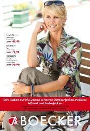 20%*Rabatt auf alle Damen & Herren ... - Boecker Modehaus - Damen