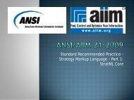 Introduction to StratML - AIIM