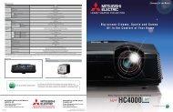Data Sheet for Mitsubishi HC4000 Projector