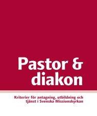Kriterier för antagning, utbildning och tjänst i Svenska Missionskyrkan