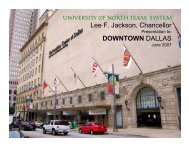 Downtown Dallas presentation - University of North Texas System
