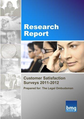 Customer Satisfaction Surveys - Results - Legal Ombudsman
