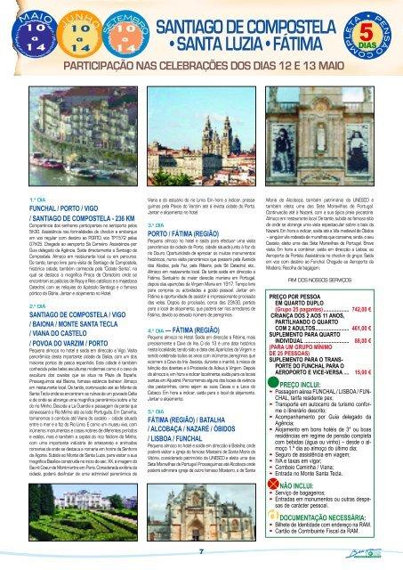 SANTIAGO DE COMPOSTELA • SANTA LUZIA • FÁTIMA - Bravatour