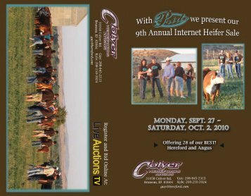 Sale Catalog - Colyer Herefords