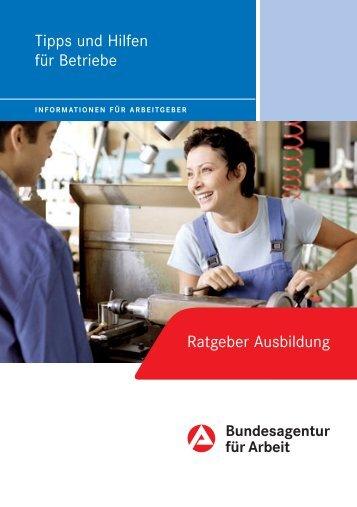 Ratgeber Ausbildung - Bundesagentur für Arbeit