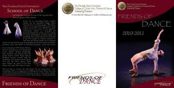 Friends of Dance - FSU - School of Dance - Florida State University