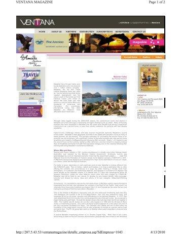 Page 1 of 2 VENTANA MAGAZINE 4/13/2010 http://207.5.43.53 ...