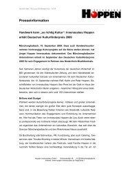 Presseinformation - Hoppen Innenausbau GmbH