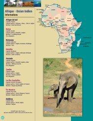 Afrique - Océan Indien - Voyages Cassis