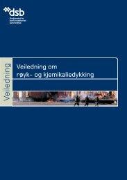 Veiledning om røyk- og kjemikaliedykking - Direktoratet for ...