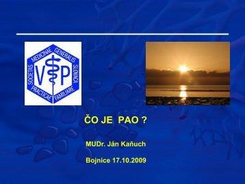 Čo je PAO?