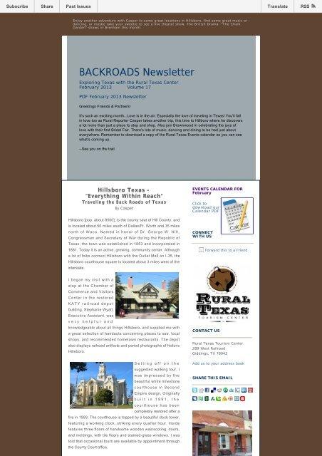 PDF February 2013 Newsletter