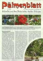 1/2007 - Botanischer Garten Erlangen