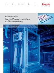 Bühnentechnik Von der Personenversenkung zur ... - Bosch Rexroth