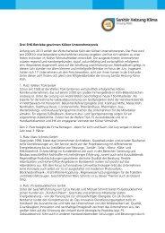 Kölner Unternehmerpreis - Innung Sanitär Heizung Klima Köln