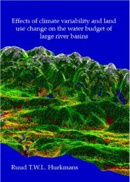 Effects of climate variability and land use change on ... - Hydrology.nl