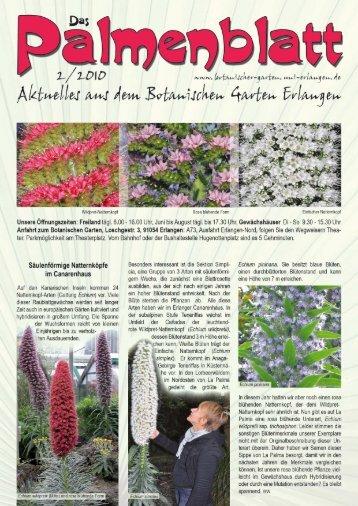 Palmenblatt 2/2010 - Botanischer Garten Erlangen
