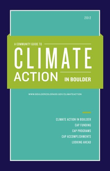 Community Guide to Climate Action in Boulder - City of Boulder