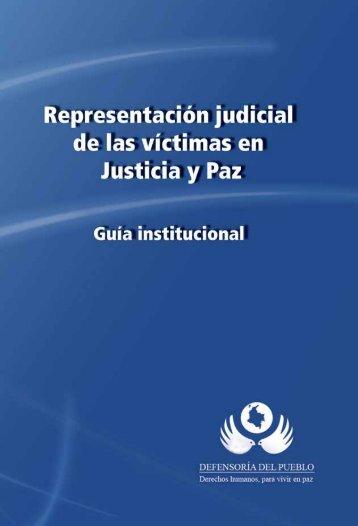 Representación judicial de las víctimas en Justicia y Paz