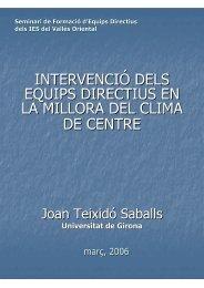 El Clima Escolar. Dimensions i factors - Groc