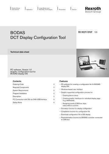 BODAS DCT Display Configuration Tool - Bosch Rexroth