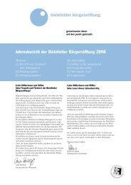 Jahresbericht der Bielefelder Bürgerstiftung 2006