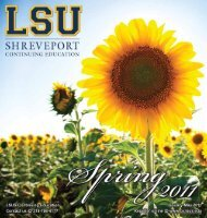 Credits - Continuing Education :: LSU Shreveport