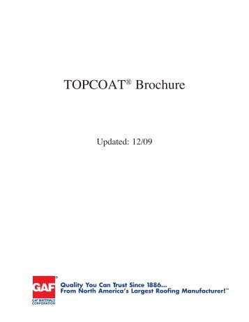 TOPCOAT® Product Overview Brochure - Huttig Building Products