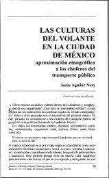 las culturas del volante en la ciudad de mexico - Estudios sobre las ...