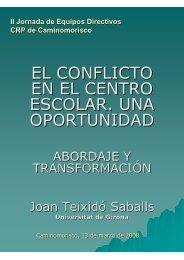 El conflicto en el centro escolar Abordaje y transformación