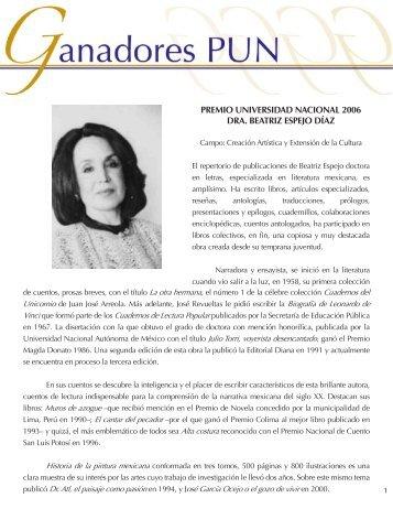 Dra. Beatriz Espejo - dgapa unam