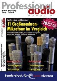 11 Großmembran- Mikrofone im Vergleich - Brauner Microphones