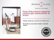 Bővebb információ a PowerPlate üzleti lehetőségekről szállodák ...