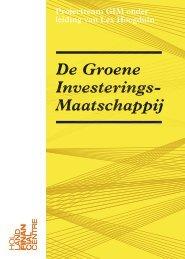 De Groene Investerings - Holland Financial Centre