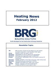 Heating News February 2012 - BRG Building Solutions
