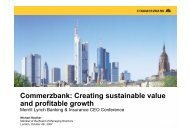 Commerzbank: Creating sustainable value and profitable growth